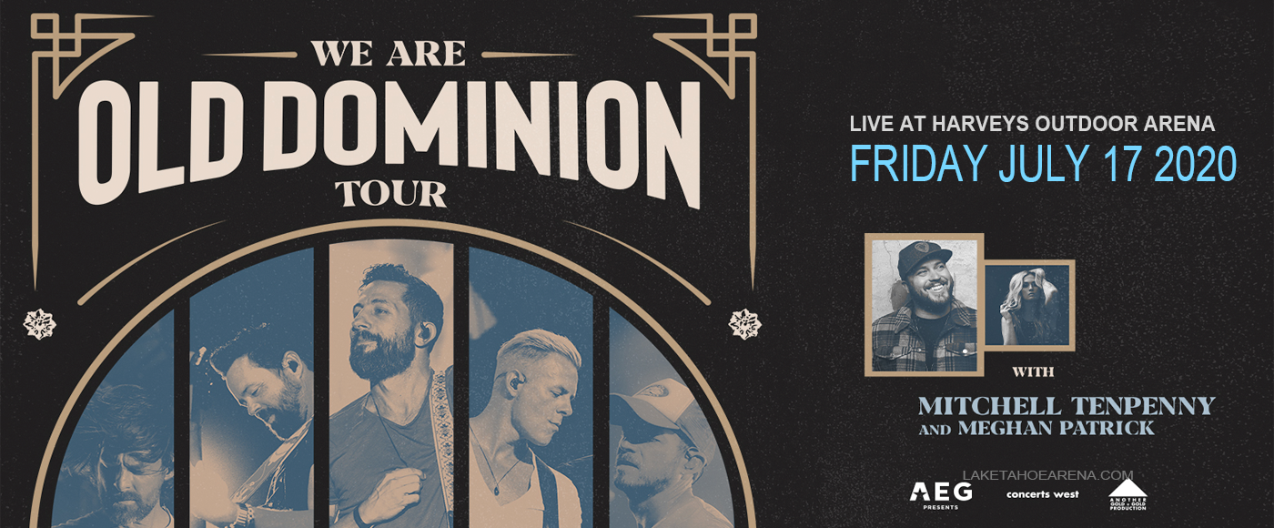 Old Dominion [POSTPONED] at Harveys Outdoor Arena